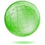 Groene bol stock illustratie