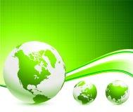 Groene Bollen op abstracte achtergrond Royalty-vrije Stock Afbeelding