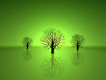 Groene Bomen royalty-vrije illustratie