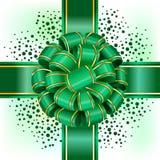 Groene boog met lint Stock Illustratie