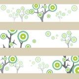 groene bos abstracte grafische boom Royalty-vrije Stock Afbeeldingen