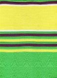 Groene breiende doek Stock Foto