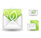 Groene brief Stock Afbeeldingen