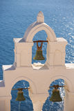 Groene bronsklokken van een orthodoxe kerk Stock Afbeelding