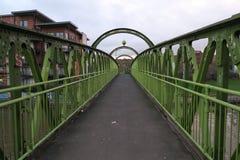 Groene brug over de Rivier Orwell, Manchester royalty-vrije stock afbeeldingen