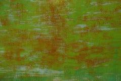Groene bruine achtergrond van het deel van de metaalmuur Royalty-vrije Stock Fotografie