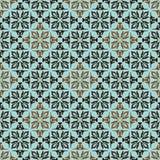 Groene bruine bloemenachtergrond Royalty-vrije Stock Afbeeldingen