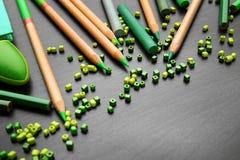 Groene bureaulevering Stock Afbeeldingen