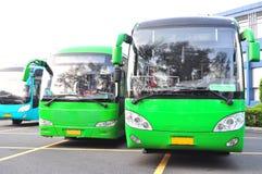 Groene bus Stock Afbeelding