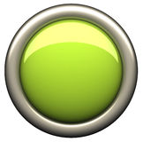 Groene buton Royalty-vrije Stock Foto's