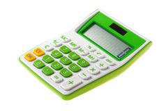 Groene Calculator Stock Foto's