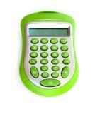 Groene calculator Stock Afbeeldingen