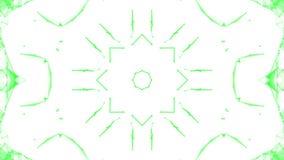 Groene caleidoscooppatronen r 3d geef terug stock illustratie