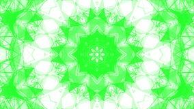 Groene caleidoscooppatronen r 3d geef terug royalty-vrije illustratie