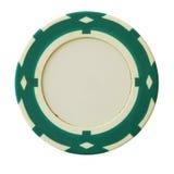 Groene casinospaander Royalty-vrije Stock Afbeeldingen