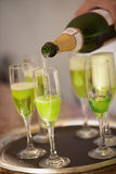 Groene champagne Royalty-vrije Stock Afbeelding