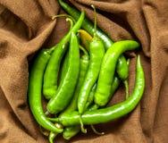 Groene chilis Stock Fotografie
