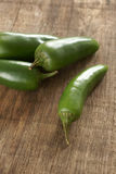 Groene Chillis Royalty-vrije Stock Afbeeldingen
