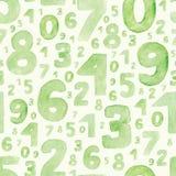 Groene cijfers Stock Fotografie