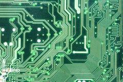 Groene circuitboard Royalty-vrije Stock Afbeeldingen