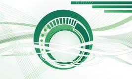 Groene cirkel en lijnen. Royalty-vrije Stock Afbeeldingen