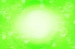 Groene cirkels en bellenachtergrond Royalty-vrije Stock Fotografie