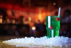 Groene cocktail Stock Foto