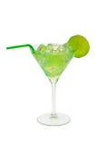 Groene cocktail met kalk Stock Afbeelding