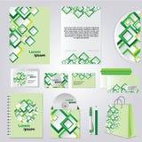 Groene collectieve stijl Royalty-vrije Stock Afbeeldingen