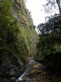 Groene Columbiaanse waterval Royalty-vrije Stock Foto's