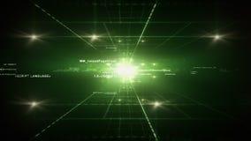 Groene computercode stock footage