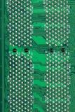Groene Computermotherboard oppervlakte van technologieachtergrond Stock Afbeelding