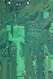 Groene Computermotherboard oppervlakte van technologieachtergrond Royalty-vrije Stock Fotografie