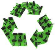 Groene computers. Het concept van PC van het recycling royalty-vrije illustratie
