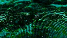 Groene computertechnologieachtergrond Grote gegevensvisualisatie Technologielandschap Futuristische illustratie royalty-vrije illustratie