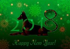 Groene Cyborghond Stock Foto's