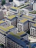 Groene daken van de flats Stock Foto's