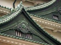 Groene daken van het Kasteel van Nagoya, Japan stock afbeelding