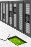 Groene Datacenter vector illustratie