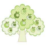 Groene de appelboom van het lapwerk Royalty-vrije Stock Afbeeldingen