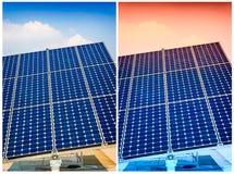 Groene de energie van het zonnepaneel Stock Afbeeldingen