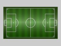 Groene de grondlijn van het voetbalgebied/Groene de grondlijn van het voetbalgebied Sport vectorillustratie beeld, jpeg EPS10 Royalty-vrije Stock Afbeelding