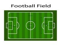 Groene de grondlijn van het voetbalgebied/Groene de grondlijn van het voetbalgebied Sport vectorillustratie beeld, jpeg EPS10 Met Stock Afbeelding