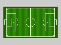 Groene de grondlijn van het voetbalgebied/Groene de grondlijn van het voetbalgebied Sport vectorillustratie beeld, jpeg EPS10 Royalty-vrije Stock Fotografie