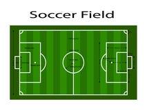 Groene de grondlijn van het voetbalgebied/Groene de grondlijn van het voetbalgebied Sport vectorillustratie beeld, jpeg EPS10 Met Stock Foto