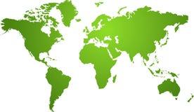 Groene de kaart van de wereld Royalty-vrije Stock Foto
