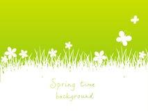 Groene de lenteachtergrond vector illustratie