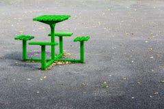 Groene de Lijstreeks van de Metaalbank royalty-vrije stock afbeelding