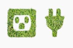 Groene de machtsstop en afzet van het grasembleem Royalty-vrije Stock Foto
