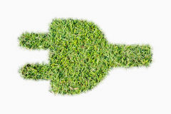 Groene de machtsstop van het grasembleem Stock Foto